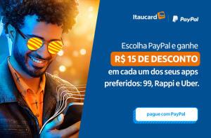 Ganhe até R$75 de desconto nos seus app favoritos com PayPal e Itaucard