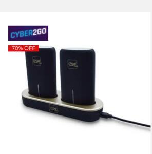 Kit de carregador portátil + base de carregamento i2Go | R$75