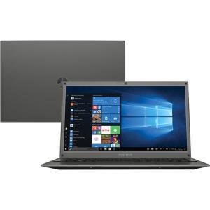"(CC Shoptime + AME 176 reais )Notebook Positivo Motion C41TCI Intel Celeron 4GB 1TB 14"" Linux Cinza escuro"