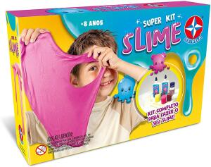[Prime ] Super Kit Slime Brinquedos Estrela Multicores R$ 89