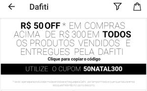 Cupom de R$ 50,00 off em produtos