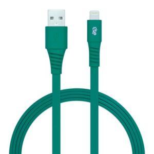Cabo Micro USB I2GO 1,2m 2,4A PVC Flexível Flat Verde - I2GO Basic
