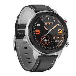Smartwatch DT NO.1 DT78 com pulseira de couro e com monitor cardíaco R$ 120
