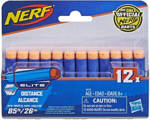 Refil Nerf Elite 12 Dardos Hasbro Azul/Laranja R$ 10