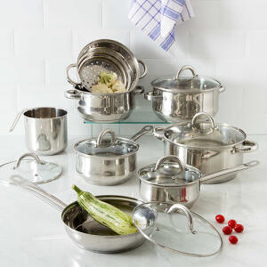 Conjunto de Panelas La Cuisine Inox 8 Peças