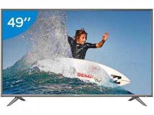 "Smart TV 4K LED 49"" Semp SK6200 Wi-Fi HDR - Conversor Digital 3 HDMI 2 USB R$1609"