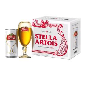 [APP] Kit Cerveja Stella Artois - 8 latas + Taça