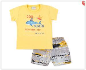 Conjunto Bebê Cool Surfer Amarelo - For Fun R$ 20
