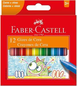 Giz de Cera 12 Cores Faber-Castell Multicor