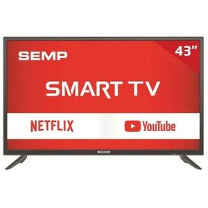 "Smart TV LED 43"" S3900S Semp TCL, Full HD HDMI USB com Wi-Fi Integrado R$1289"