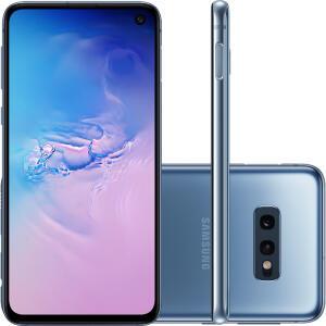 """[Cartão Shoptime] Smartphone Samsung Galaxy S10e 128GB Dual Chip Android 9.0 Tela 5,8"""" Octa-Core 4G Câmera 12MP + 16MP - Azul"""