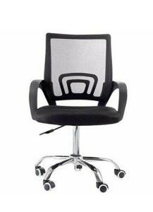 [App] Cadeira Giratória com base Cromada - Preta - Mb-6010