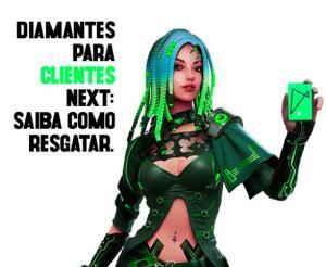 [09/01] 300 diamantes para clientes Next no Free Fire SÓ AMANHÃ!
