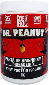 Pasta de Amendoim 1kg Brigadeiro c/Whey - Dr Peanut | R$32