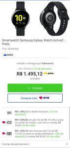 Smartwatch Galaxy Watch Active 2 a vista