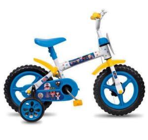 Bicicleta Aro 12 Styll Clubinho Salva Vidas Bike do Gui - Branco/Azul