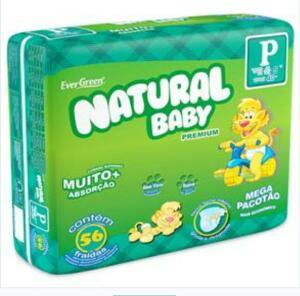 Fraldas Natural Baby Premium P - 56 Unidades