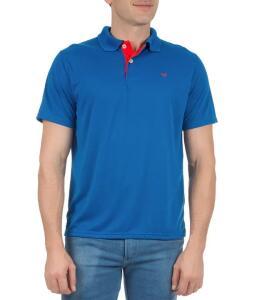 Camisa Polo Masculina Azul Lisa - Colombo