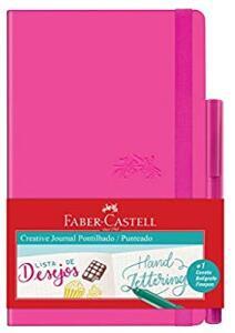 (Prime) Caderno Pontilhado + Fine Pen, Faber-Castell, Creative Journal, CDNETA/RS, 84 Folhas, Rosa