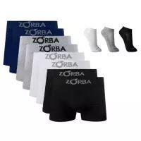 [Marketplace] Kit 10 Cuecas Boxer Zorba Adulto com Algodão + 3 Pares de Meia Ted Socks 1500