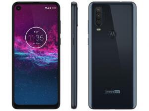 "Smartphone Motorola One Action 128GB Aqua Marine - 4G 4GB RAM 6,34"" | R$1394"