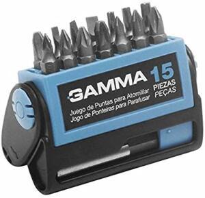 [PRIME] Kit de Ponteiras para Parafusadeira 15 Peças Gamma Ferramentas G19519AC