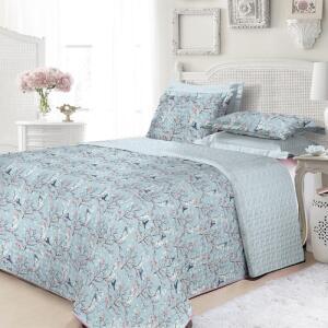 Colcha Casal Boutis Chris com 2 Porta Travesseiros - Casa & Conforto
