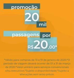 Passagens de Ônibus para vários destinos por 20 reais