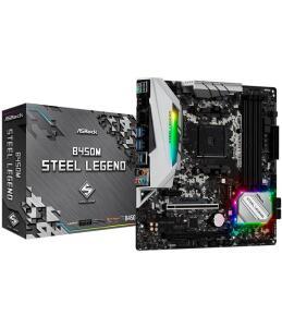 Placa Mãe AsRock B450M Steel Legend mATX DDR4 R$ 560