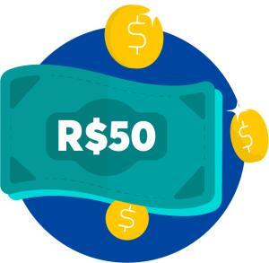 R$ 50 de cashback para uma compra acima de R$ 150