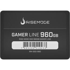 SSD Rise Mode Gamer Line, 960GB, Sata III, Leitura 535MBs e Gravação 435MBs, RM-SSD-960