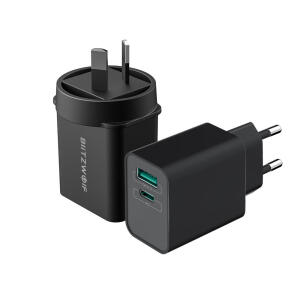 Carregador BlitzWolf BW-S14 USB-C USB-A 18W PD3.0 QC3.0 | R$39