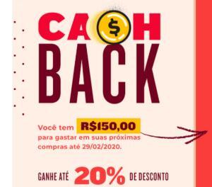 Cashback Evino - até R$150