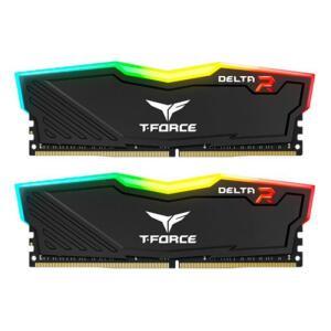 Memoria Team Group T-Force Delta RGB 16GB (2x8) DDR4 3000Mhz Preta, TF3D416G3000HC16CDC01