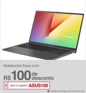 R$100 OFF em Notebooks da Asus