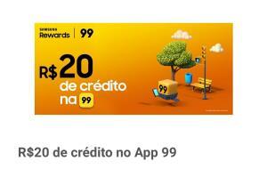 20 reais de crédito no app 99pop (samsung reward)