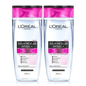 Água Micelar Bifásica Especial L'Oréal Paris 200ml - 2 Unidades R$37