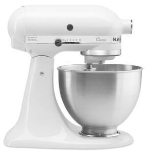 Batedeira Stand Mixer KitchenAid Classic - KEA26 Branca / Preta - R$767
