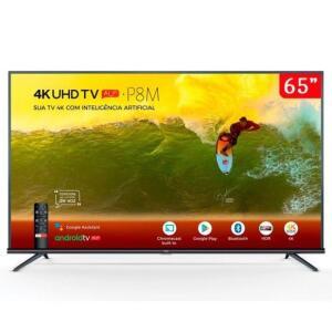"(R$2.763 AME) TV LED 65"" Smart 65P8M 4K HDR, Wifi, 3 HDMI, 2 USB"