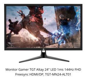"Monitor Gamer 144hz TGT 24"" 1ms"