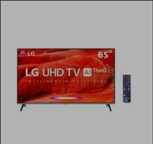 "Smart TV LED 65"" UHD 4K LG 65UM7520PSB com ThinQ AI Inteligência Artificial, IPS, Quad Core, HDR Ativo, DTS Virtual X, WebOS 4.5, Bluetooth"
