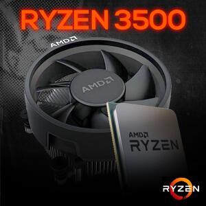 Processador AMD Ryzen 5 3500 3.6GHz (4.1GHz Turbo), 6-Core 6-Thread, Cooler Wraith Stealth, AM4, S/ Video, 100-100000050MPK