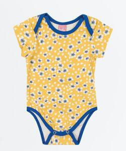 Body Infantil Bebê Estampa Floral Manga Curta | R$11,19