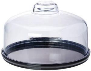 Boleira baixa Cake com Cúpula, 19.5 cm, Preto, Coza