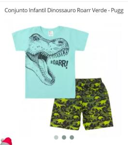 Conjunto Infantil Dinossauro Roarr Verde - Pugg
