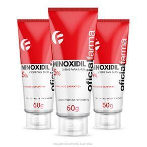 Minoxidil Barba 5% com Fator de Crescimento 60g (3 und)