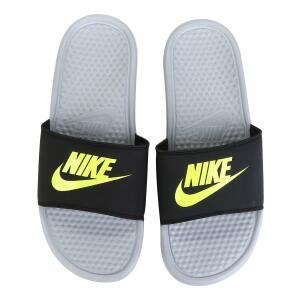 Sandália Nike Benassi JDI Masculina - Preto e Cinza R$76
