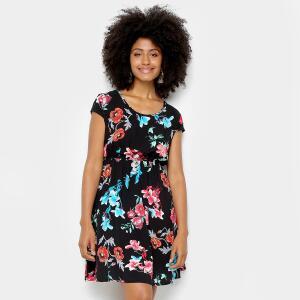Vestido Lily Fashion Evasê Curto Floral R$40