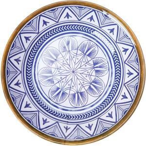 Prato Fundo Linha Mandala Mimo Style Azul/Branco - R$7