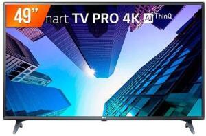 "Smart TV LED 49"" LG ThinQ AI Ultra HD 4K 49UM731C 3 HDMI 2 USB Wi-fi com Conversor Digital"